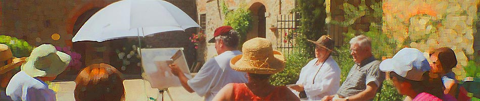 PAINTING HOLIDAYS & ART WORKSHOPS IN TUSCANY